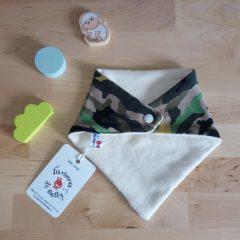bavoir bandana bio biologique militaire