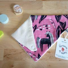bavoir bandana bio biologique licorne
