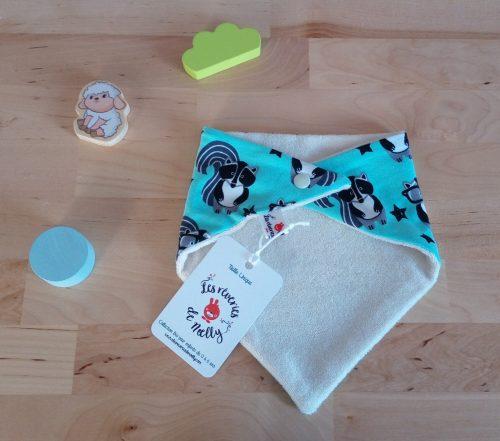 bavoir bandana bio biologique raton laveur