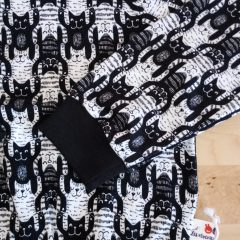 Tshirt jersey bio biologique motif chat