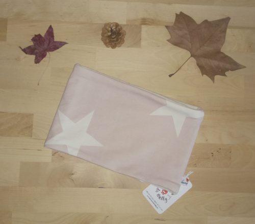 snood polaire coton biologique étoile rose