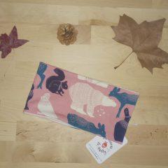snood polaire coton biologique rose
