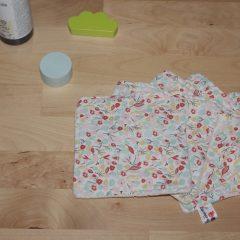 lingettes lavables coton bio fleurs
