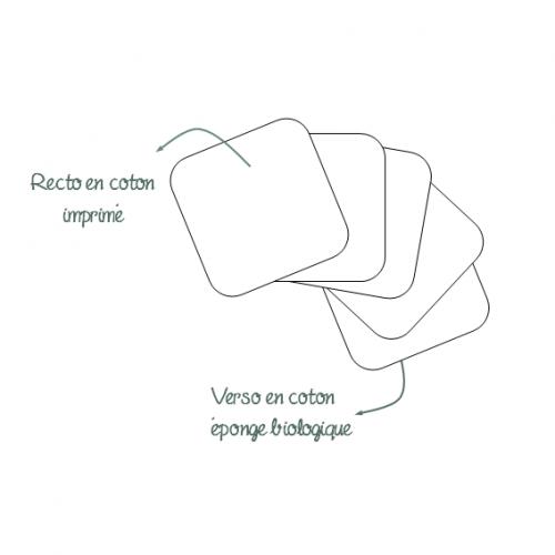 lingettes lavables coton éponge biologique
