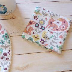 lingette lavable fille coton biologique motif fôret