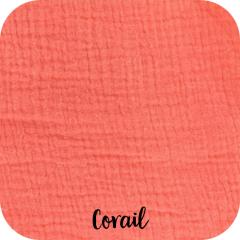 ddouble gaze coton bio corail