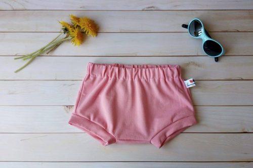 short bloomer bébé jersey bio rose